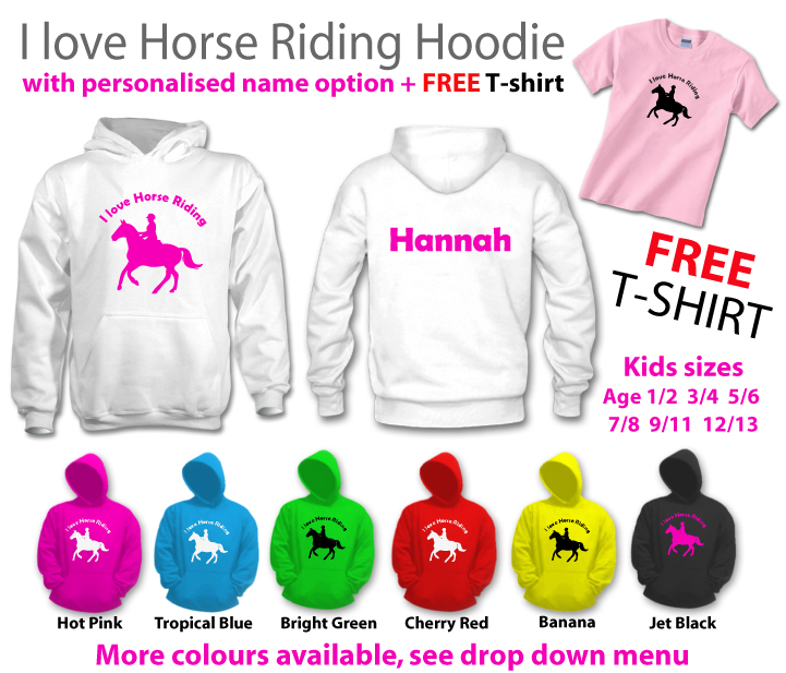 I love horse riding hoody